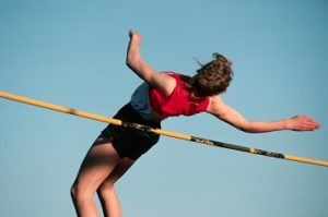 Jumping Over High Jump Bar